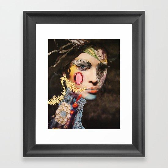 Pink Sapphire Framed Art Print