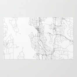 Seattle, United States Minimalist Map Rug