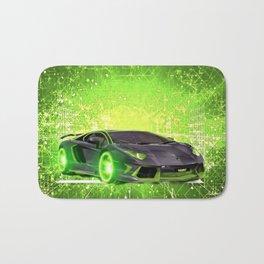 Tronic Green Sports Car Bath Mat