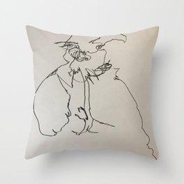 Blind Contour Subject Throw Pillow