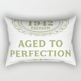 Green-Vintage-Limited-1942-Edition---75th-Birthday-Gift Rectangular Pillow