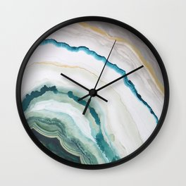 Green Agate #1 Wall Clock
