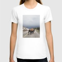 be happy T-shirts featuring Street Walker by Kevin Russ