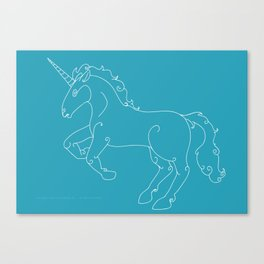 Unicorn Banner Canvas Print