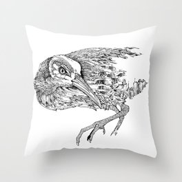 Clapper Rail VS Coastal Development Throw Pillow