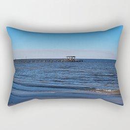Bokeelia Blue Rectangular Pillow