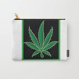 Vegan Marijuana Leaf Carry-All Pouch