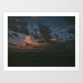 Sunset In Kauai Art Print