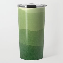 gradient landscape green Travel Mug