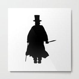 Jack the Ripper Silhouette Metal Print