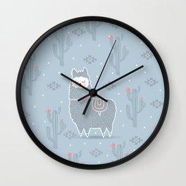 Alpaca winter Wall Clock
