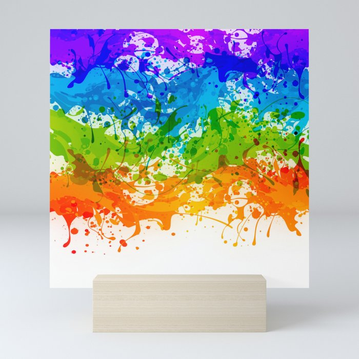 Colorful Splashes Mini Art Print