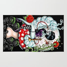 Alice in Zombieland - Schmokin' Caterpillar Rug