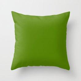 Avocado Green Throw Pillow
