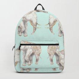 Woolly Mammoth Watercolor Mastodon Painting Backpack