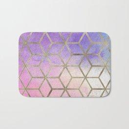 Pixie dust geometric watercolor Bath Mat