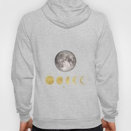 Elegant Abstract Gold Moon Phases Hoody