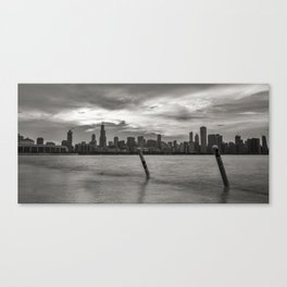 Smoothing out the Lake Canvas Print