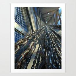 Chained Elevator Shaft Art Print