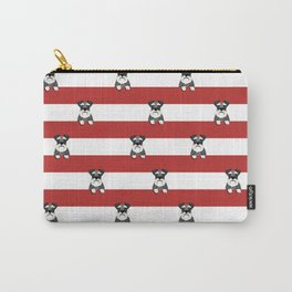 schnauzer stripes dog breed gifts Carry-All Pouch