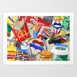 Fast and Fat Art Print