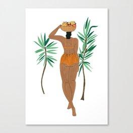 Fruit Basket Gal Canvas Print