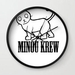 MINOU KREW Wall Clock