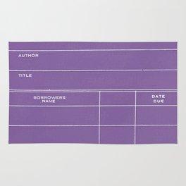 Library Card BSS 28 Negative Purple Rug