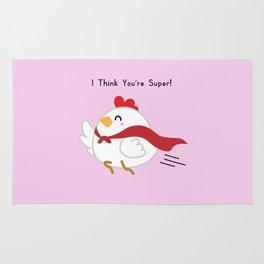 Hen - I Think You're Super! Rug