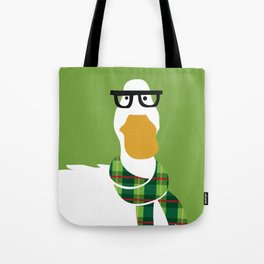 Hipster Duck Tote Bag