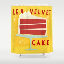 All American Classic Red Velvet Cake Shower Curtain