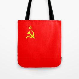 ussr cccp russia soviet union communist flag Tote Bag