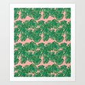 Monstera Stripe on Pink by katrinaward