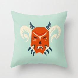 Kuker Evil Monster Mask Throw Pillow