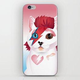 a cat insane iPhone Skin