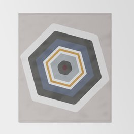 hexagon purple Throw Blanket