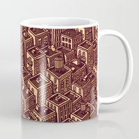 buildings Mugs featuring Buildings by Mario Zucca