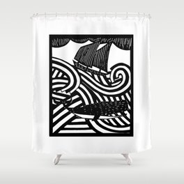 Herman - Paper Cut Illustration. 2015 Shower Curtain
