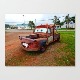 Tribute Build to Tow Mater Canvas Print