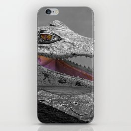 The smiling crocodile and the flies iPhone Skin