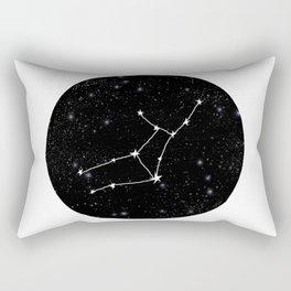 Virgo star sign zodiac star chart constellation black and white Rectangular Pillow
