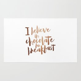 i believe in chocolate Rug