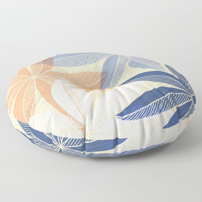 Modern Hawaiian Print II Floor Pillow