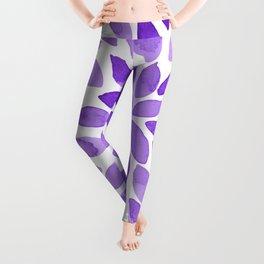Watercolor brush strokes - ultra violet Leggings