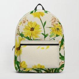 Yellow Wildflowers Backpack