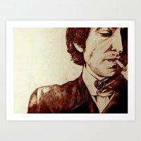 bob dylan Art Prints featuring Bob Dylan by Farinaz K.