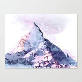 The Crystal Peak Canvas Print