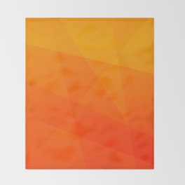 Orange Sunset Throw Blanket