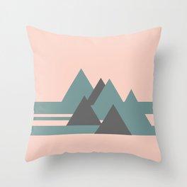 Peak Pink Grey Throw Pillow