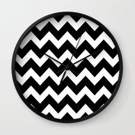 Chevron Black & White Wall Clock